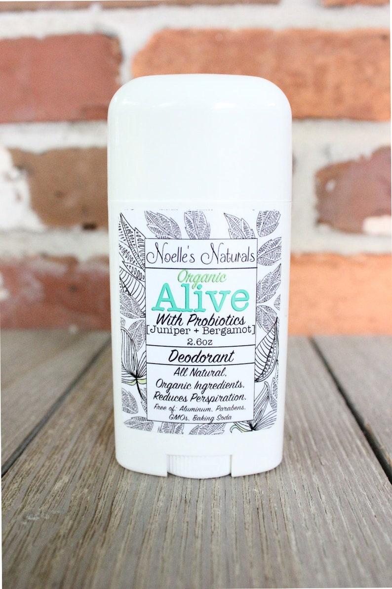Organic Probiotic Deodorant  No Baking Soda  Aluminum Free  image 0