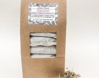 Postpartum Herbal Bath - Organic Herbs - Pack of 7 sachets - Self Care after childbirth - Sitz Bath - Relaxation after birth