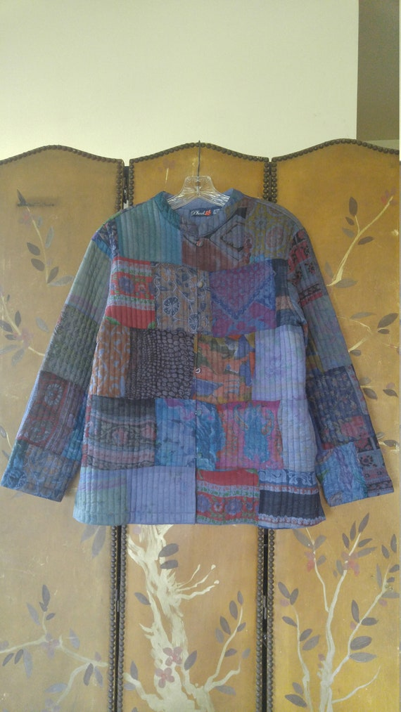 90s Phool patchwork Indian quilt jacket