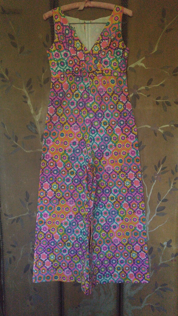 60s flower power psychedelic flared Jumpsuit by Ma
