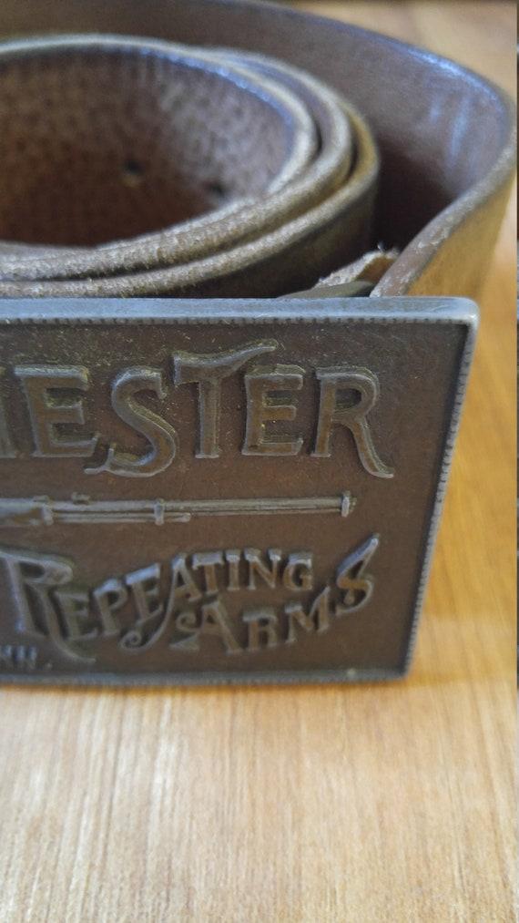 des années 70 Winchester Rifle boucle et ceinture   Etsy 2c227d1e7e5