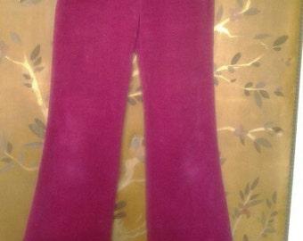 Hot pink corduroy flares