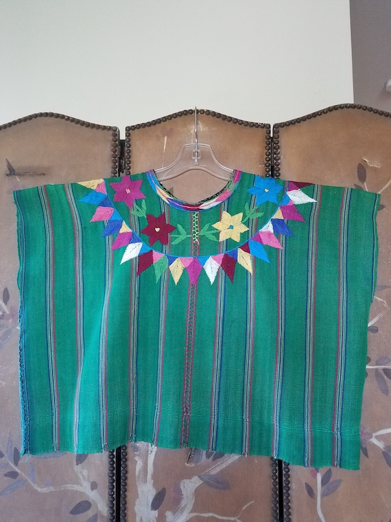 60's Mexican embroidered tunic poncho