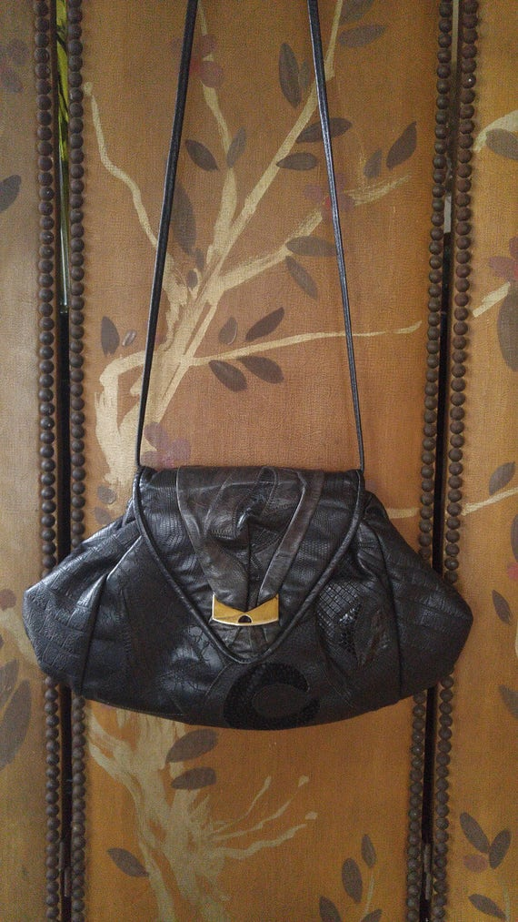 leather patchwork handbags