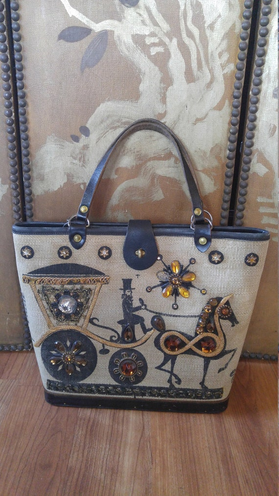 70's Enid Collins Carriage Trade hand bag