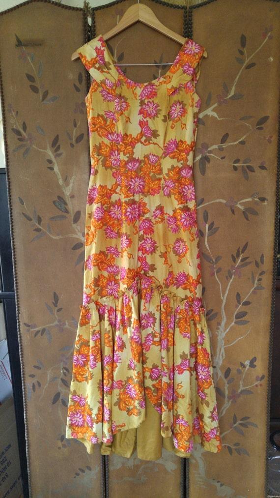 70s maxi flowered Hawaiian dress by Liberty House