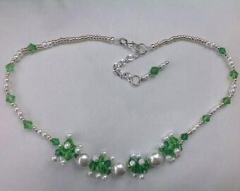 Handmade Jewelry, Bead woven, necklace Jewelry, original design Crystal beaded jewelry
