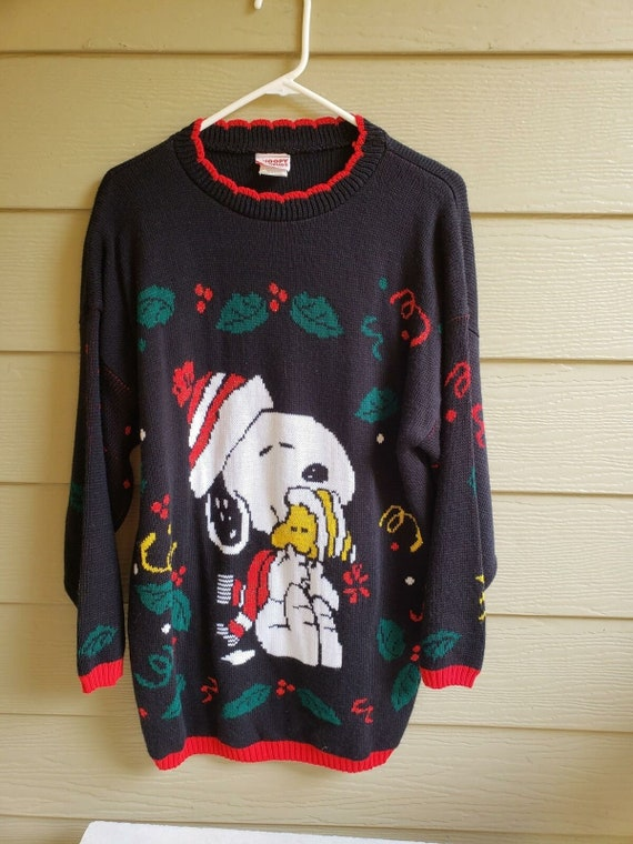 Vintage Snoopy Christmas Sweater, Unisex Not so Ug