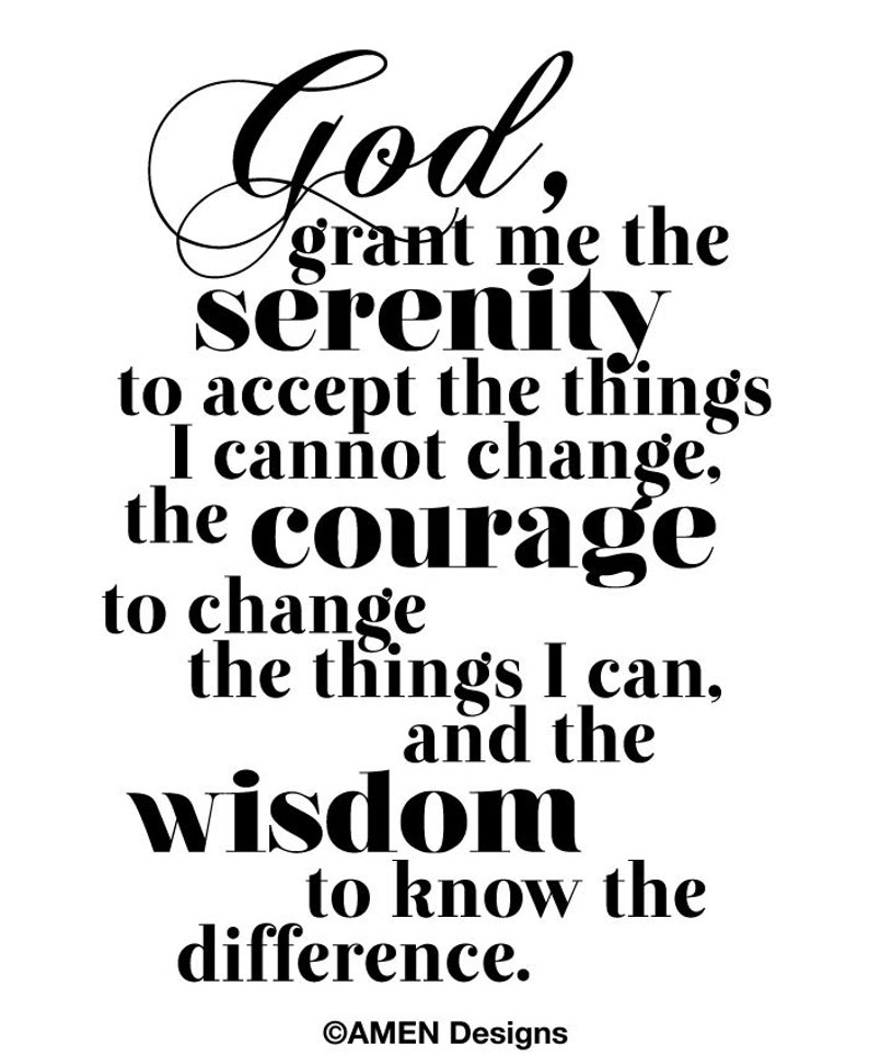photo about Printable Serenity Prayer known as Printable Typography.Serenity Prayer. 8x10. Do it yourself. PDF. Christian.