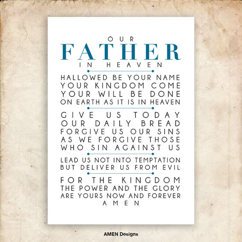 image relating to Printable Copy of the Lord's Prayer referred to as The Lords Prayer. NIV. Do it yourself. PDF. A3 for 11x14. Printable Scripture Poster. Bible Verse.