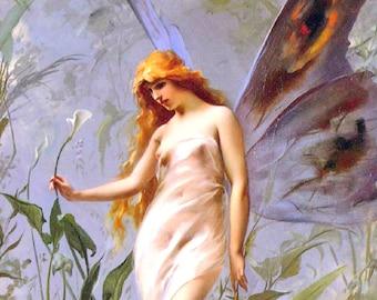 Falero_Luis_Ricardo_Lily_Fairy_1888  Vintage Reproduction Print 11 x17