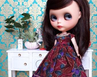 Purple and Gold Blythe Dress and Crinoline Set   Pullip Dress