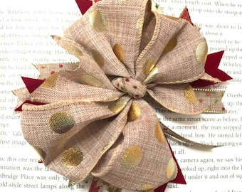 Stacked Burlap Hair Bow