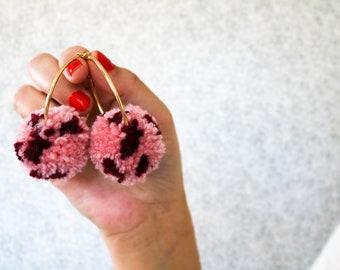 Be Mod Valentine Pom Hoop Earrings