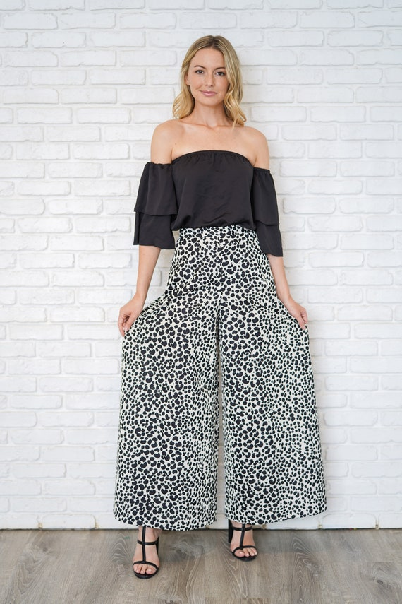 Vintage 60s 70s High Waist Pants Trousers Dalmati… - image 4