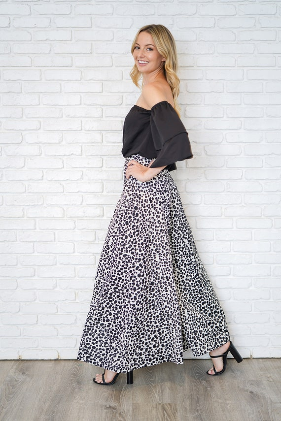 Vintage 60s 70s High Waist Pants Trousers Dalmati… - image 2