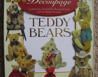 Victorian Decoupage Images and Book - Teddy Bears - Decoupage