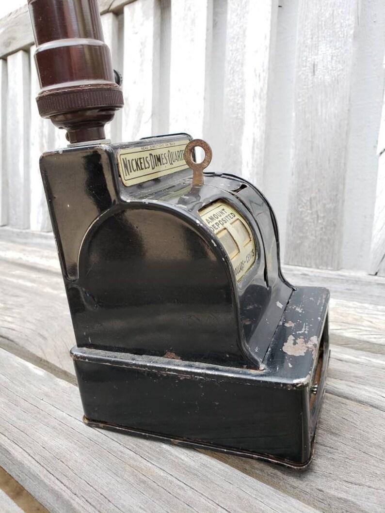 Vintage Repurposed Table Lamp Uncle Sams Cash Register Bank Light