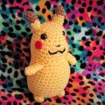 PIKACHU AMIGURUMI DOLL - Pokémon Crochet Plush Companion - Inspired by Pokemon Detective Pikachu!