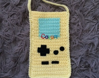 RESERVED ~ 90's Yellow Game Boy Color Crossbody Bag - Up-Cycled Earth Friendly!