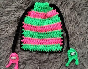 Splatoon ~ Lil' Crochet Drawstring Bag