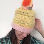 Funfetti Crochet Slouchy Beanie Hat by MW