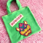 BOWSER ~ Couture Fleece Tote Bag