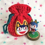 ROVER AMIIBO BAG - Animal Crossing - Crochet Amigurumi Drawstring Bag Pouch for Amiibo!