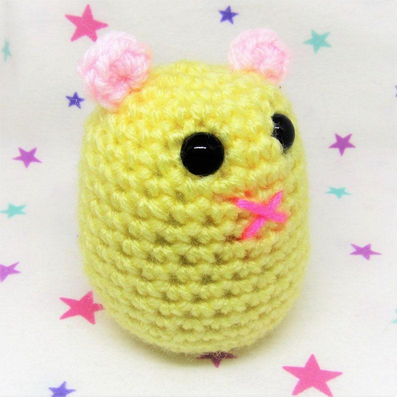 HAMMO HAMSTER PLUSH  Yellow Syrian  Amigurumi Hamster Plush image 0