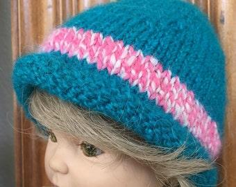 Handknit, hand-dyed 100% Alpaca Hat