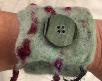 Felted Alpaca Cuff Bracelet