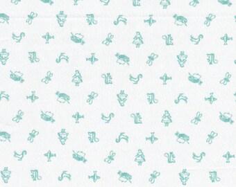 Cloud9 Organic Fabrics - Maman - Motif Blue 1/2 YD
