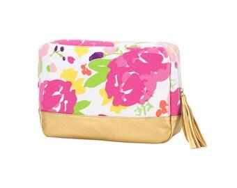 Monogrammed Cabana Cosmetic bag