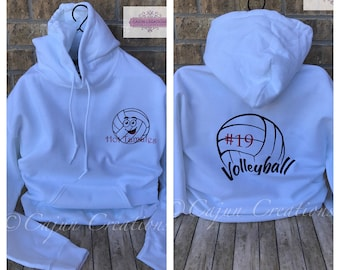 Volleyball hoodie, volleyball mom, personalized hoodies, volleyball sweatshirt, volleyball gifts, any sport can be used, sports sweater