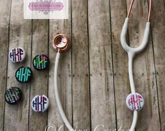 Stethoscope ID tag, name tag, stethoscope accessories, Lilly Pulitzer monogram, nurse gift, rn gifts, doctor gift, nursing student