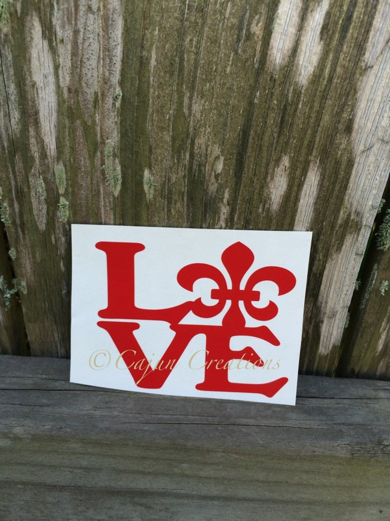 Love decal car decal fleur de lis decal decals for car image 0