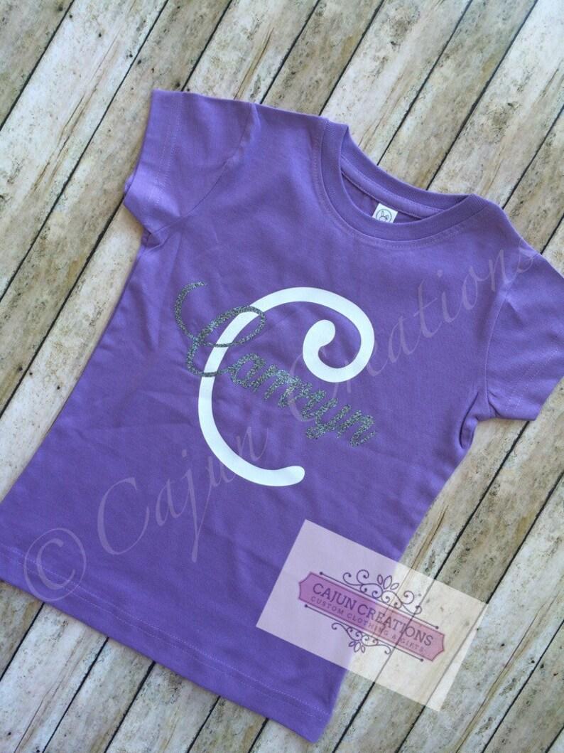 Girl toddler shirt personalized kids shirts monogram toddler image 0