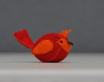 Cardinal bird, Cute little felt cardinal bird