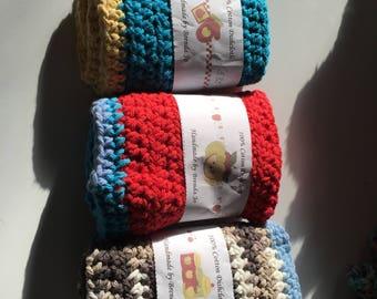 Crocheted Dishcloths set of 3