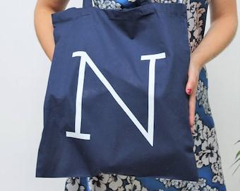 Narrative 'N' Logo Navy Tote Bag