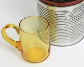 Light brown/Yellow Glass Beer Mug