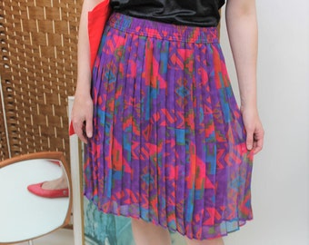 St Michael Geometric Print Pleated Skirt Size UK 10, US 6, EU 38