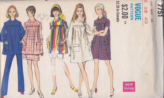 1960er Jahre mod Mutterschaft Kittel Garderobe Vintage Muster | Etsy