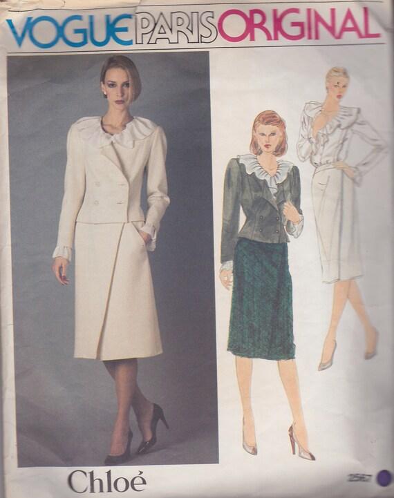 Original Vogue Década Una Chaqueta Blusa Estilo Del Chloe 2567 Paris Traje Slim Volantes De Vintage Diana 1980 Deliciosa Patrón Princesa 7rfpqn7vw