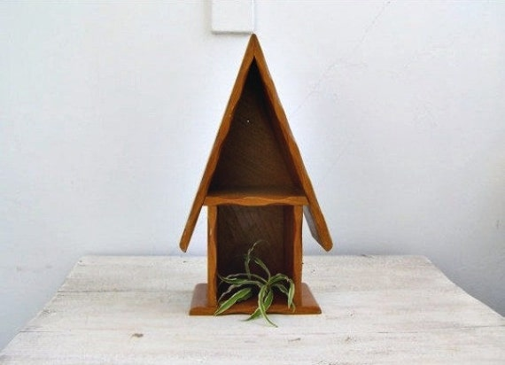 Vintage Wood Shelf Unit House Shape Rustic Shelving Ideas Counter Wooden Shelf Kitchen Decorating Ideas Wooden Pot Stand Nursery Decor