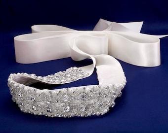 Ceinture de cristal, cristal robe ceinture, ceinture, ceinture de mariée, ceinture de mariage, ceinture de mariage, ceinture de perle, perle de ceinture, ceintures de demoiselles d'honneur