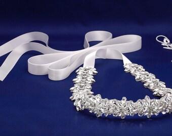 Guillotine, ceinture de mariée, mariée ceinture, ceinture de mariage, cristal de mariée Sash, ceinture cristal mariée, robe de mariée Sash, ceinture de robe de mariage