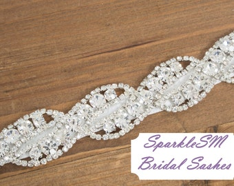 Bridal Sash, Wedding Sash, Bridal Belt, Crystal Sash, Rhinestone Sash, Jeweled Belt, Wedding Gown Belt, Bridal Dress Sash, Bridesmaids Sash