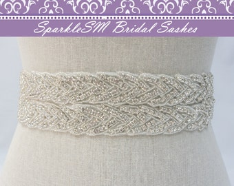 Bridal Sash, Wedding Sash, Bridal Belt, Crystal Sash, Rhinestone Sash, Jeweled Belt, Wedding Gown Belt, Crystal Dress Sash Bridal Dress Sash