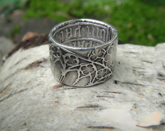 Cathedral Ring, Medieval Ring, Cathedral Window, Renaissance Wedding Band, Artisan Handcrafted with Recycled Fine Silver, Silvan Arts